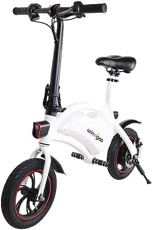 HQFLY - Bicicleta eléctrica plegable (6,0 Ah, 350 W, 36 V ...