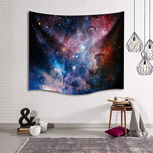 Universe Galaxy Star Wall Tapestry, IMEI Multi Purpose Outer Space Wall Hanging Mural Art Decoration Tapestry Sofa Cover Beach Blanket Dorm Decor (80X60 Inch, Starry Star Sky) Outer Space Wall Mural