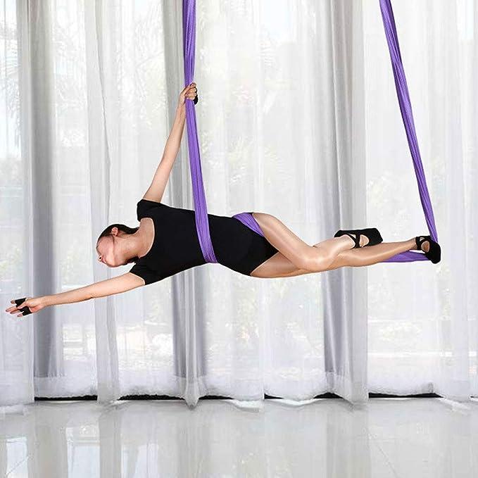 Amazon.com : DIMPLEYA Stretch Yoga Hammock Extra Long Yoga ...