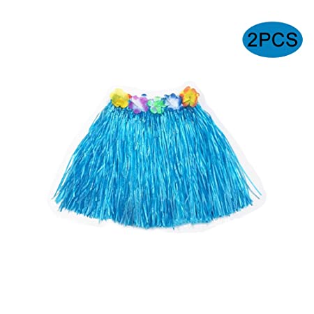 Quemu Co.,Ltd. Falda de césped hawaiano Luau fiesta disfraz de ...