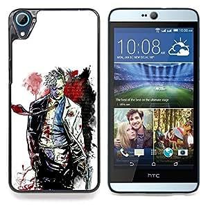 """Qstar Arte & diseño plástico duro Fundas Cover Cubre Hard Case Cover para HTC Desire 826 (Cara Tw0 - Bat Superhero"""")"""