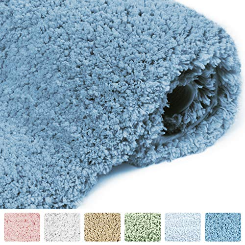 - NORCHO Anti Slip Rubber Back Bathroom Antibacterial Rug Soft Water Absorbent Luxury Bathroom Door Mat 31
