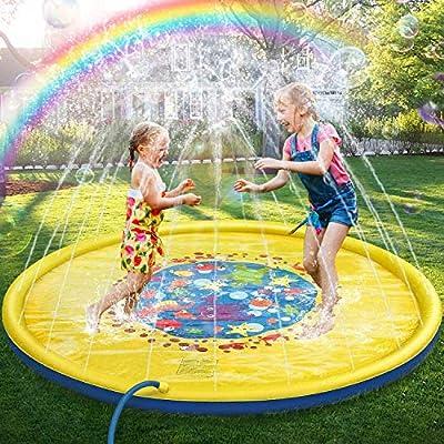 JOJOIN Splash Pad, Juego de Salpicaduras y Salpicaduras, Aspersor de Juego para Actividades Familiares Aire Libre /Fiesta /Playa /Jardín - PVC Super Durable, no Tóxico, Respetuoso con Medio Ambiente: Amazon.es: Juguetes y
