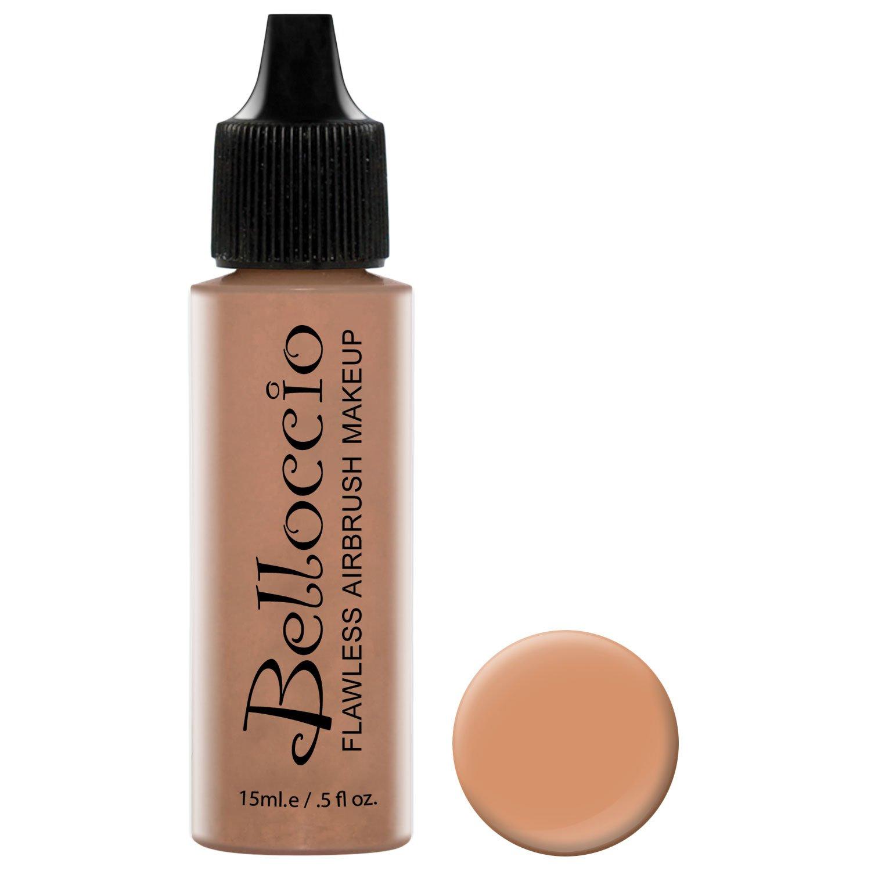 Belloccio's Professional Cosmetic Airbrush Makeup Foundation 1/2oz Bottle: Beige- Light-medium Pink Undertones