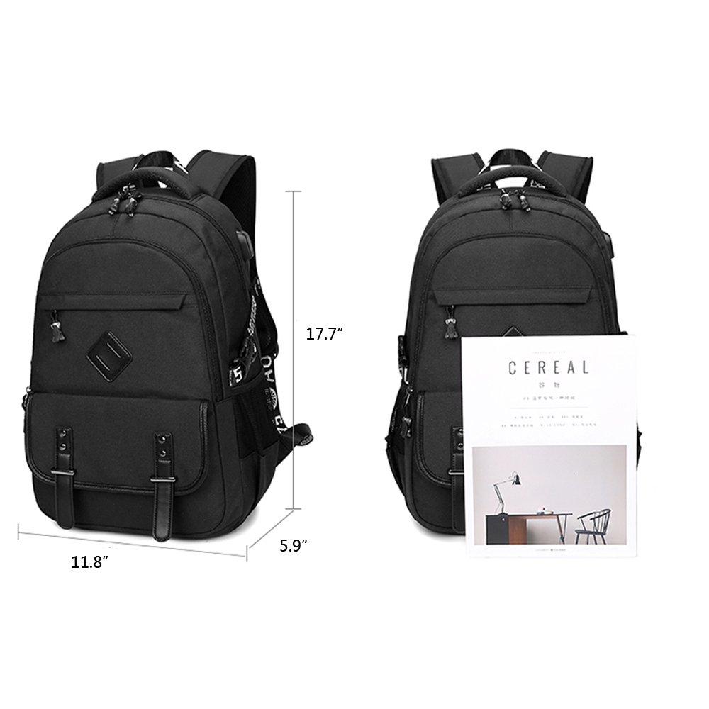 Qutool College Bagbacks Bookbags Handbags for Women Men Students Girls Boys Backpack  with USB Charging Port for Men and Women Travel Bag School Backpack15 ... 06badbf804