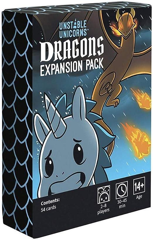 BDWN El Super Juego Paquete de expansión Unstable Unicorns Dragones Juego de Cartas de Estrategia para Adultos y Adolescentes y Juego de Mesa de Fiesta: Amazon.es: Hogar