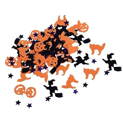 Fenteer Paquete De 30 G Happy Halloween Sprinkle Table Confetti DIY Craft Accessories - Negro Púrpura Y Naranja: Juguetes y juegos