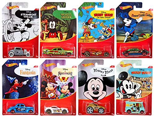 Hot Wheels 2018 Mickey Mouse Set of 8 -