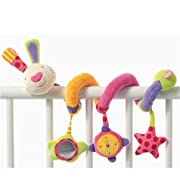 Edtoy Baby Activity Spiral Toy, Stroller Toy, Bed Hanging Toys, Car Seat Toy Rabbit