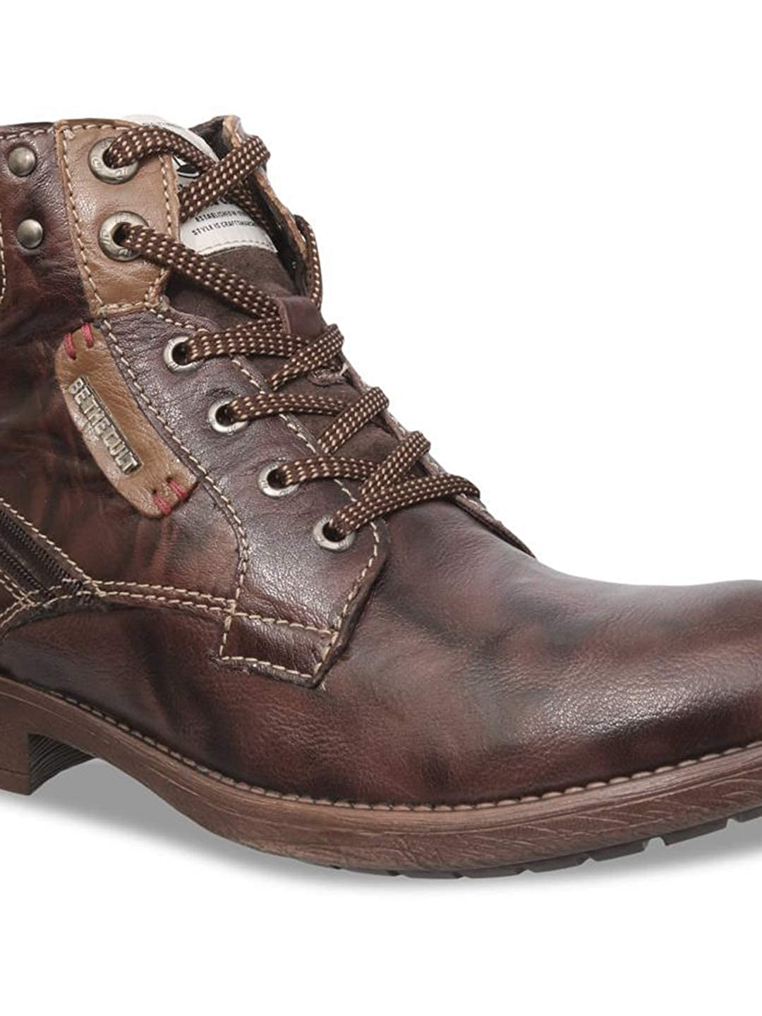 Genuine Leather Casual Boots (Cafe