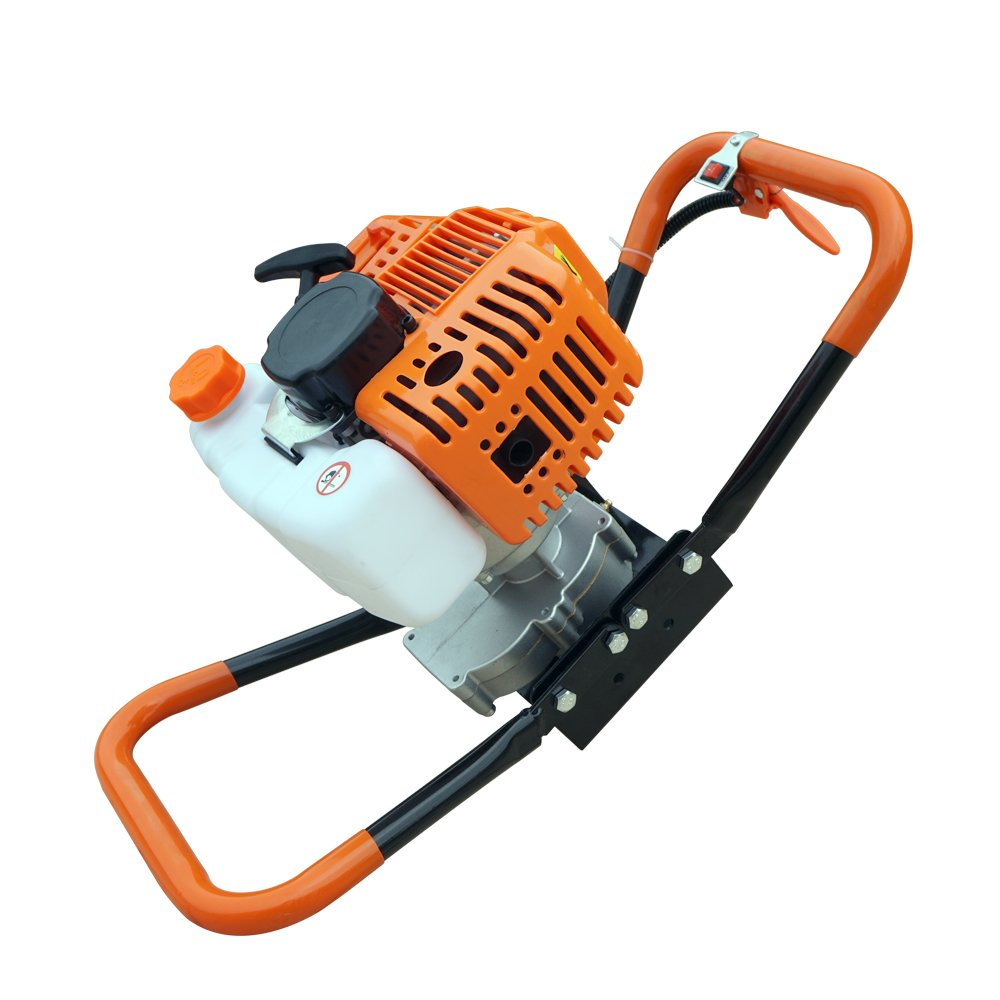 2.2HP Gas Powered Post Hole Digger Auger 52CC Power Engine (Engine Motor with 8Auger Bits) Ltd L12t160108DZ-1