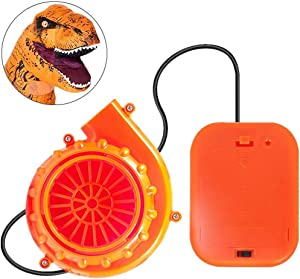 WJA Mini Blower Fan for Dinosaur Costume or Doll Mascot Head or Other Inflatable Game Clothing Suits, Orange