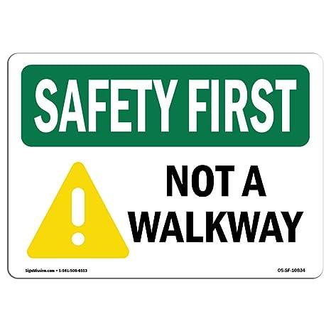 Amazon.com: OSHA Safety First Sign - Cartel de aluminio con ...