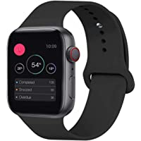 KOUUNN Sport Band Compatible for Apple Watch 38mm 40mm 42mm 44mm, Soft Silicone Sport Strap Replacement Band Compatible for Apple Watch Series 4, Series 3, Series 2, Series 1