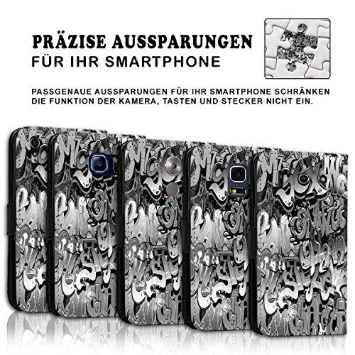 Wallet Book Style Flip Handy Tasche Case Schutz Hülle Schale Motiv Etui für Apple iPhone 6 / 6S - Design Flip MVD314