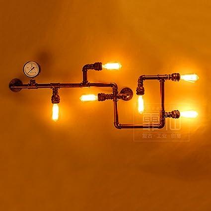 Hines Loft Industria Vintage 6-Luces Tubería de Agua Luz de ...
