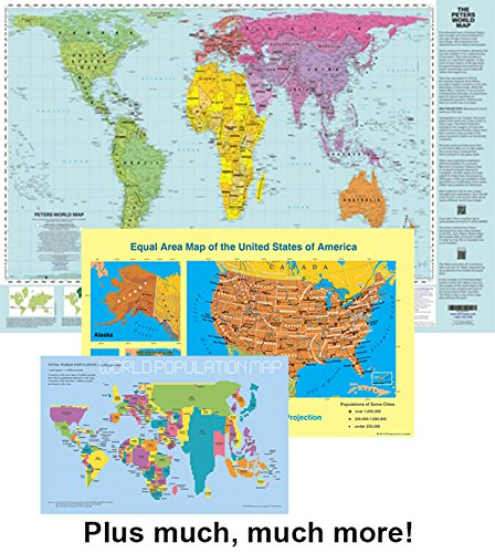 Peters Projection Resource Pack 24x36 inch laminated map  latest edition