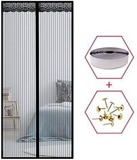 Nero Zanzariere Porta Finestra Facile da Montare Porte Finestre HMHD Porta Zanzariera Magnetica 100x200cm per Porte dIngresso