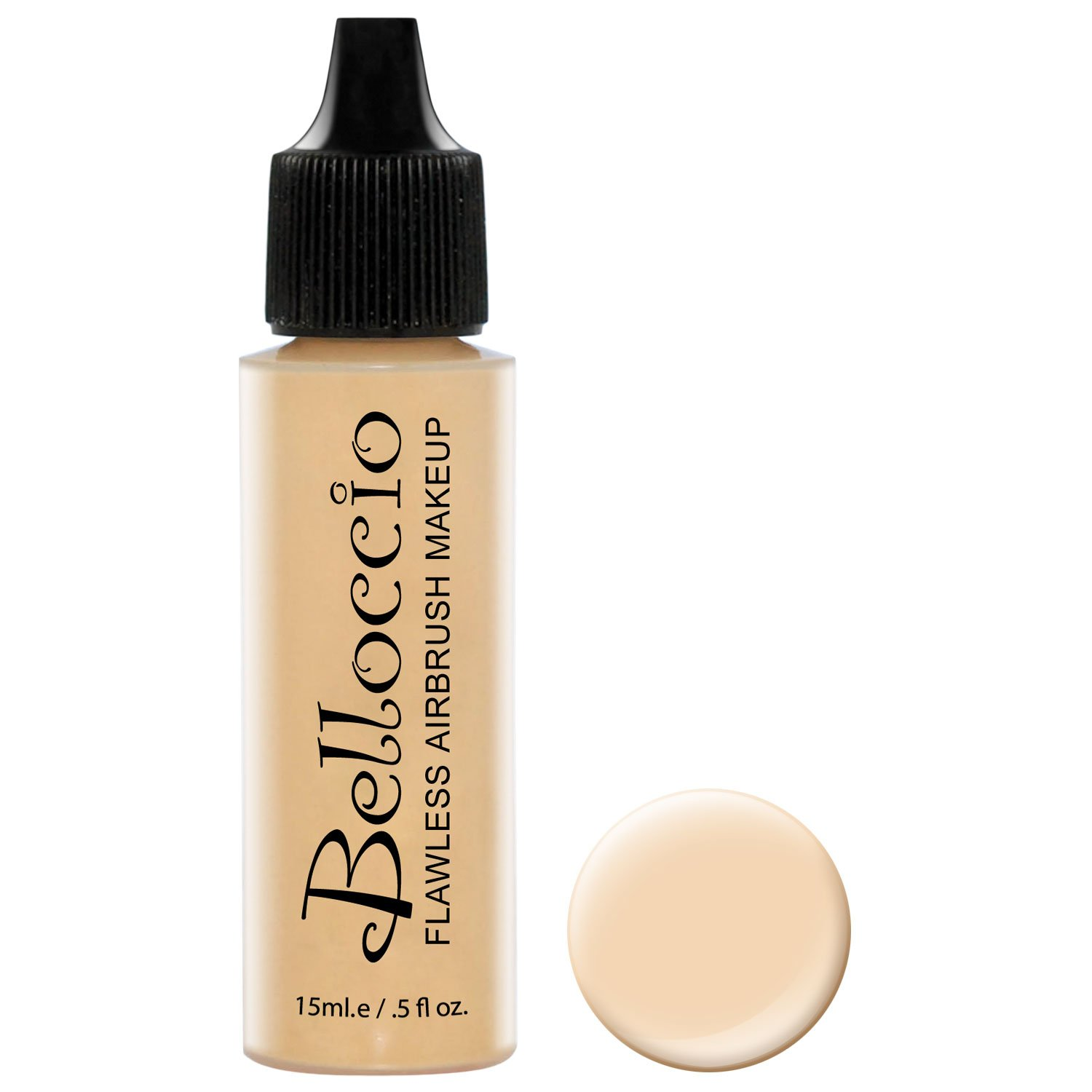 Belloccio's Professional Cosmetic Airbrush Makeup Foundation 1/2oz Bottle: Buff- Light with Golden Undertones