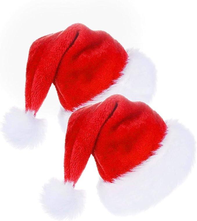 UK CHRISTMAS MEN WOMEN CHILDREN SANTA CLAUS RED FLUFFY HIGH QUALITY PARTY DECORA