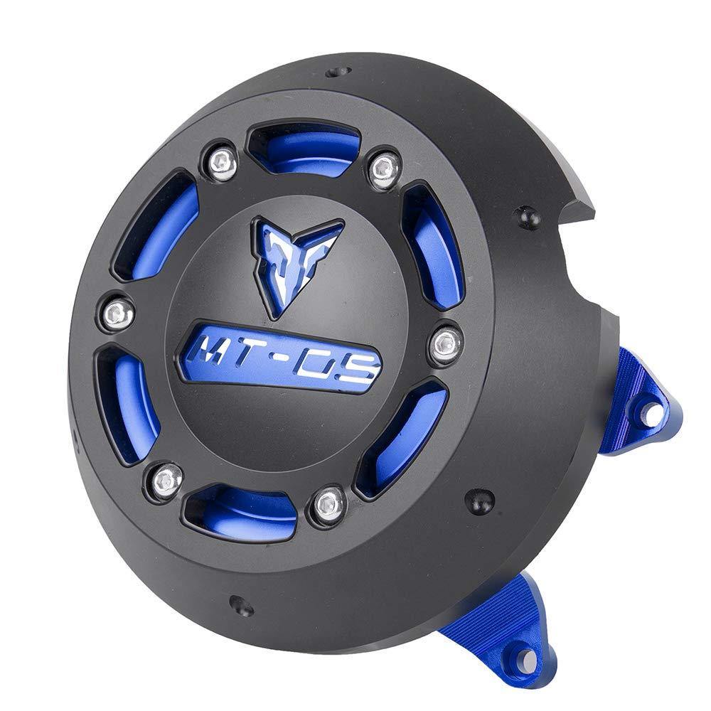 XX eCommerce Motocicleta Moto MT09 Izquierda y derecha CNC Protector del motor Estator Estator Enchufe de protección Embrague Deslizador Cubierta para 2014 ...