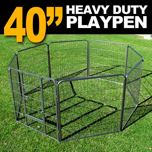 new-mtn-heavy-duty-40-dog-playpen-pet-cage-exercise-pen-fence-house