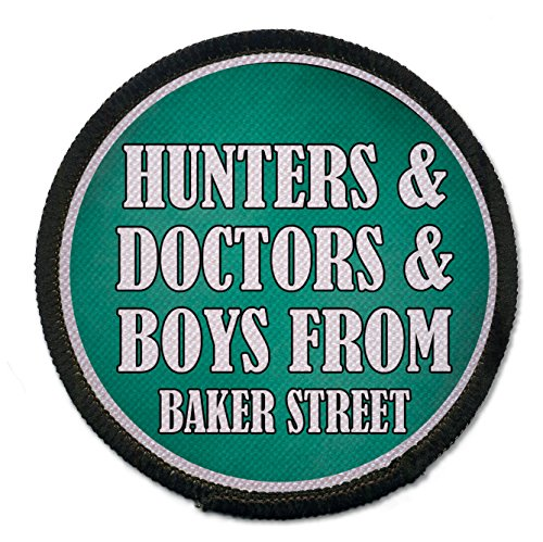 2.5 Inch Sew-on Patch Hunters and Doctors and Boys From Baker Street