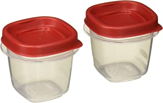 product image for Rubbermaid 781147422084 Easy Find Lids Square 1/2-cup Food Storage Container (Pack of 8 Cups), 8 Counts