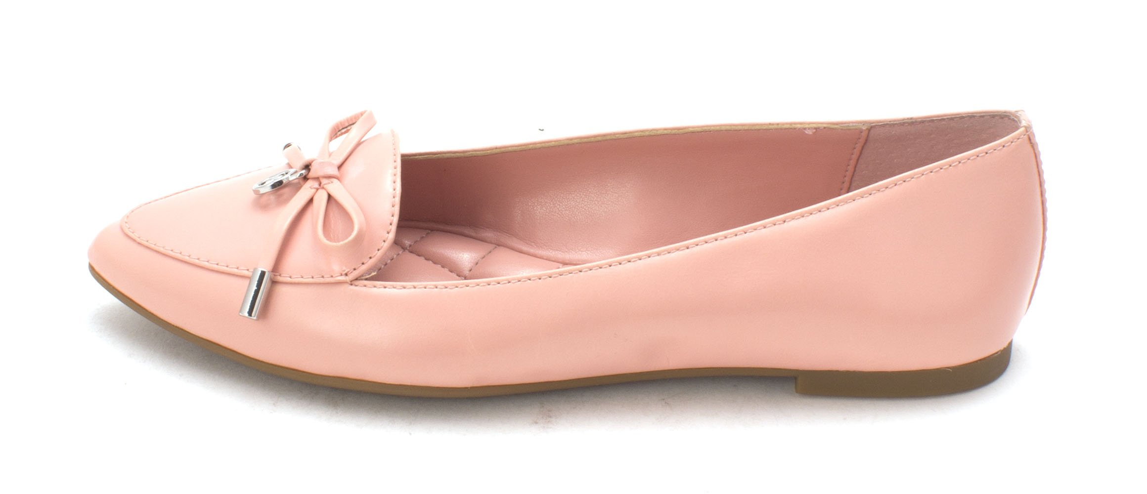 MICHAEL Michael Kors Womens Nancy Pointed Toe Leather Slide Flats, Pink, Size 5