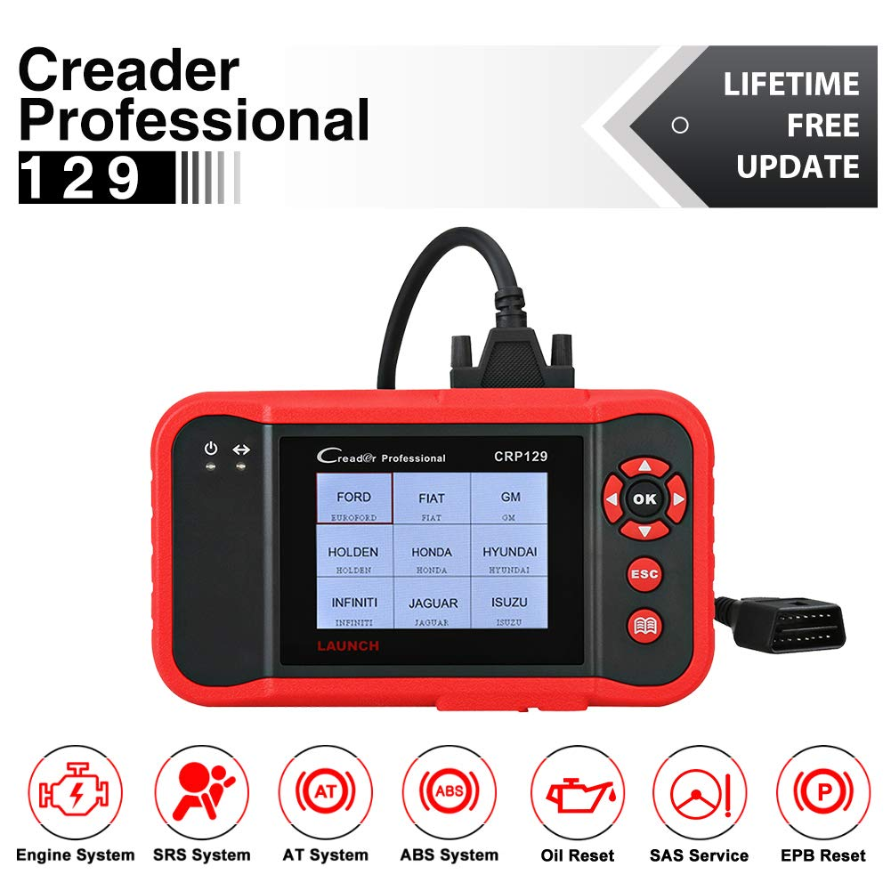 Launch CRP129 OBD2 Scanner Scan Tool ENG/AT/ABS/SRS EPB SAS OIL Service Light Resets Code Reader for Mechanic and Experienced Enthusiast