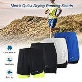Lixada Men's 2-in-1 Running Shorts Quick Drying