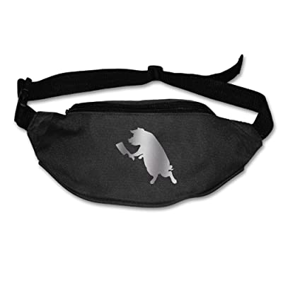 Yahui Porcine Butcher Waist Bag Fanny Pack / Hip Pack Bum Bag For Man Women Sports Travel Running Hiking / Money IPhone 6 / 7 6S / 7S Plus Samsung S5/S6