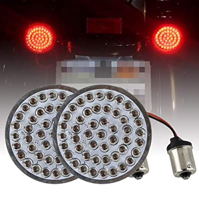"""Atubeix 2"""" LED Turn Signal Inserts Red Rear turn signals Kits (Bullet style) For Motorcycle with taillights (1156 Socket): Automotive"""
