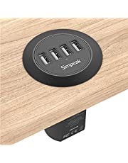 """Simpeak 30W 4-Port USB Chargeurs de Bureau Supports 2.0"""" / 2.5"""" Grommet Hole avec Câble d'alimentation pour Maison et Bureau"""