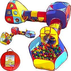 Playz 5pc Kids Playhouse Jungle Gym w/ Pop Up Tents,...