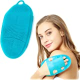 INNERNEED Soft Silicone Body Scrubber Exfoliating Glove Shower Cleansing Brush, SPA Massage Skin Care Tool, for…