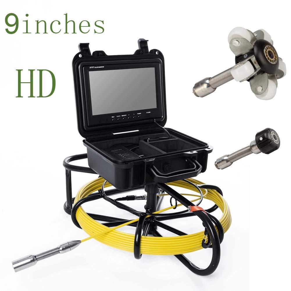 9インチ23ミリメートル工業用パイプライン下水道検知カメラIP68防水排水検知1000 TVLカメラ,150m B07Q5X4NVC 40m  40m