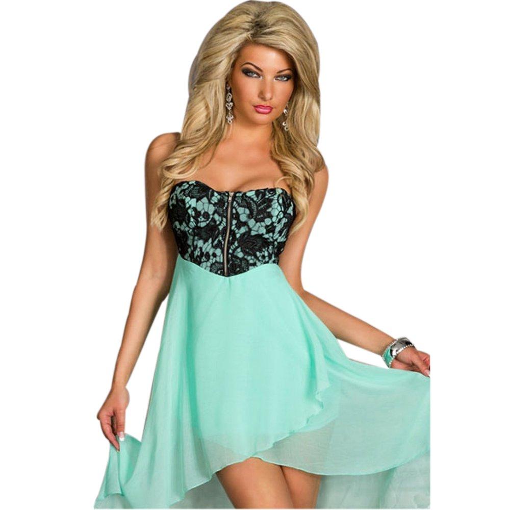 2f8a0aea02 JAUNE Women s Tube Chiffon Skirtout Dress at Amazon Women s Clothing store