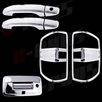 4 Door Handles Taillights 02-09 Chevy Trailblazer Chrome Covers Set Mirror Caps