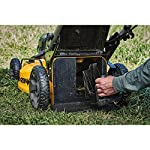 Dewalt 20v max lawn mower, 3-in-1, 2 batteries (dcmw220p2) 29 push mower comes with powerful brushless motor and (2) 20v max* batteries working simultaneously for high power output. 3-in-1 push lawn mower for mulching, bagging and side discharging battery lawn mower has heavy-duty 20-inch metal deck