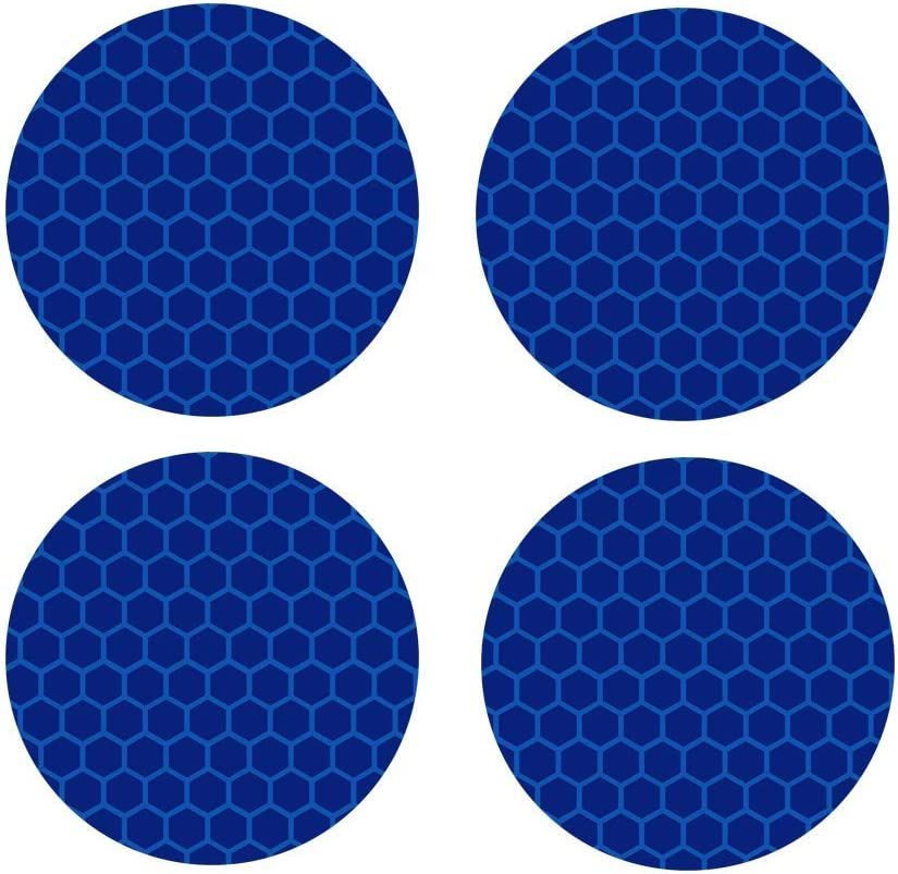 biinfu Conspicuity Safety Caution Warning Sticker for Car Truck Trailer Reflective Round Diamond Grade Sticker Motorcycles /& Other Safety Needs-Blue