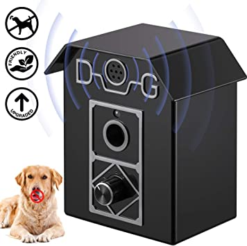APoony Dog Anti Barking Device Sonic Bark Deterrents Bark Control Device Ultrasonic Anti Barking Waterproof Outdoor Anti Bark Control System Dog Bark Control Outdoor