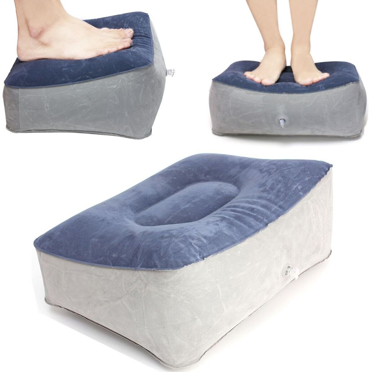 QOJA inflatable footrest pillow travel home help reduce dvt risk
