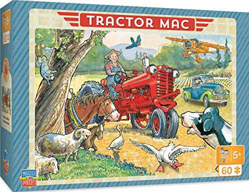 (MasterPieces The Right Fit Kids Tractor Mac Jigsaw Puzzle, Out For A Ride, Tillywig Top Fun Award, 60 Piece, For Age 5+)