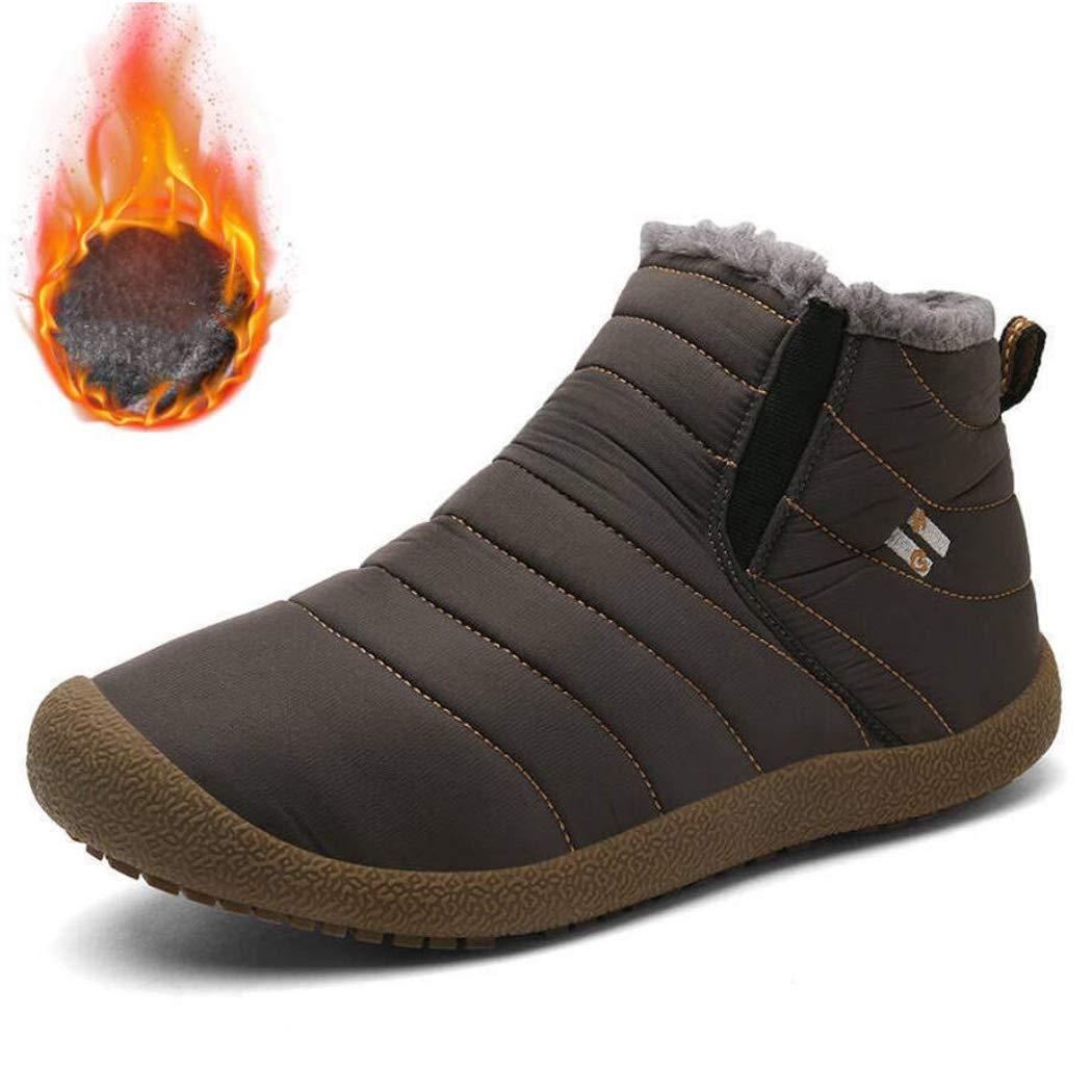XxoSchuhe Männer Frauen Schnee Stiefel Baumwolle Schuhe voll Pelz gefüttert Wasserdichte Schnürung Winter warme Knöchel Turnschuhe