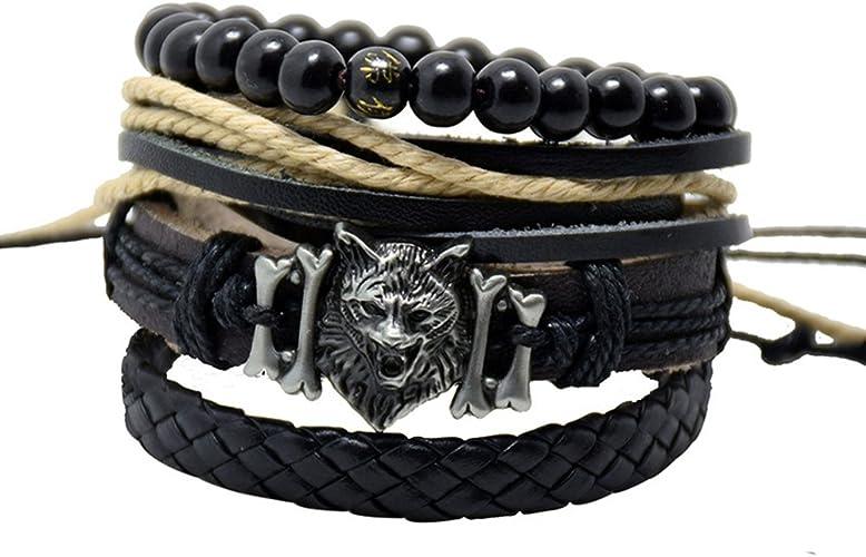 Jewelry Fashion Men/'s Women Charm Leather Bracelet Bangle Cuff Punk Style Pick