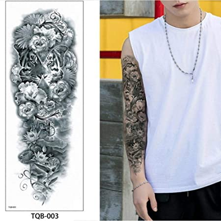 Handaxian 3pcsNew Grandes Pegatinas Brazo Tatuaje Tatuaje ...