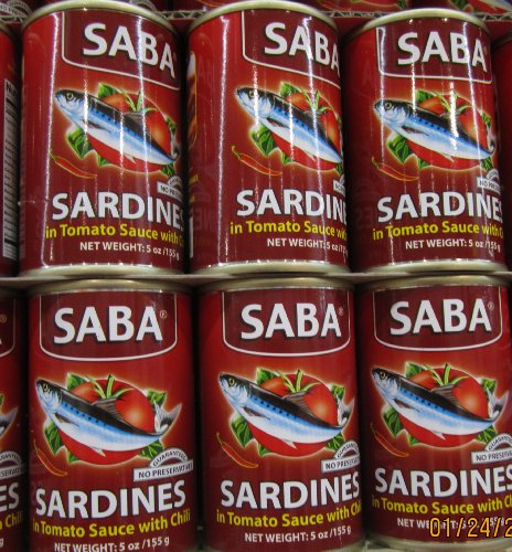 Price comparison product image Saba Sardines in Tomato Sauce with Chili Pack of Six 155 G Per Pack