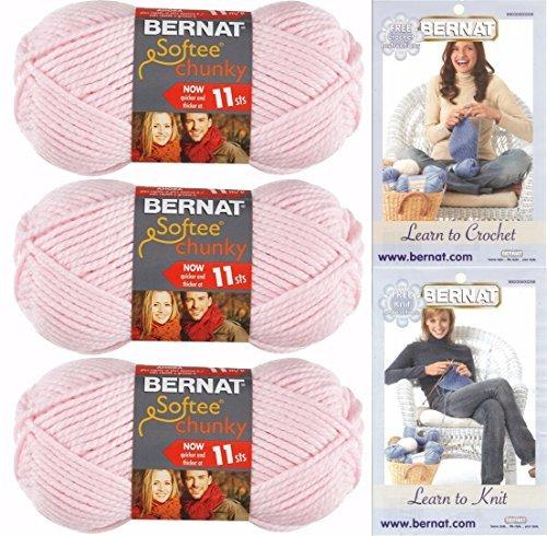 Bernat Softee Chunky Yarn Bundle  Super Bulky Number 6, 3 Sk