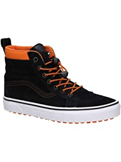 12024facb3e7 Vans UY SK8-Hi MTE Black Orange Suede Youth Trainers Shoes